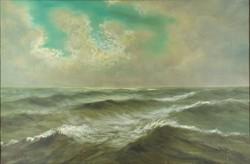 0W806 Ismeretlen festő : Háborgó tenger