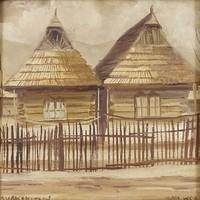 0W679 Ismeretlen festő : Ruszin faházak
