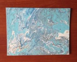 Szeberényi M. : Blue Energy I. absztrakt festmény