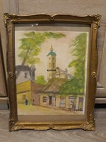 Turmayer Sándor akvarell eladó