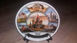 Orosz suvenier/porcelán tányér Moszkva