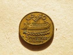 KK520 1936 Libanon 5 piastres