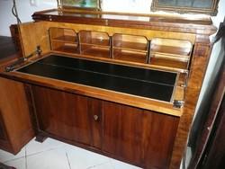 AKCIÓ! Álomszép  antik biedermeier dió írókomód/íróasztal/komód SZÁLLÍTÁSSAL!