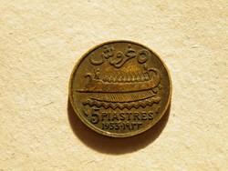 KK518 1933 Libanon 5 piastres