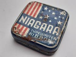 Régi fémdoboz Niagara írógépszalagos doboz
