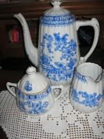 Bavaria kancsó teáskanna cukortartó és tejszínes kiöntő kék kínai mintával