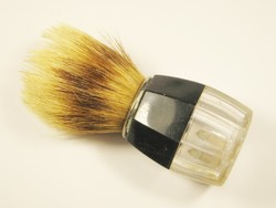 Retro borotva pamacs - szőr és műanyag - 1970-es évekből