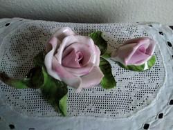 Herendi rózsaszál halvány rózsaszínben, kiváló jelzéssel!