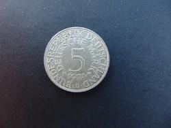 Németország ezüst 5 márka 1974 D