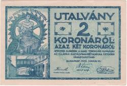 GANZ TÖRZSGYÁR, 2 KORONA, 1919