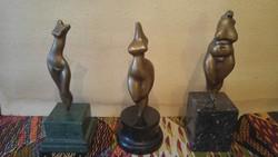 Bronz akt torzók /18 cm/  20-40-60