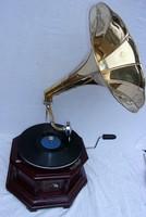 Mechanikus gramofon, működik! 2