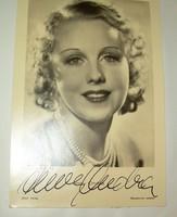 Dedikált régi sztárfotó gyűjtemény 7 db-os színésznők 30-as évek