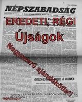 1986 február 21  /  NÉPSZABADSÁG  /  Régi ÚJSÁGOK KÉPREGÉNYEK MAGAZINOK Szs.:  8508