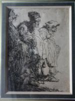 Rembrandt Van Rijn  rézkarc a 18-19. századfordulójáról!