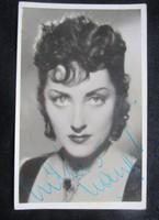 LUKÁCS MARGIT SZÍNMŰVÉSZ ALÁÍRT DEDIKÁLT FOTÓ 1942 AUTOGRAM FÉNYKÉP SZÍNMŰVÉSZET SZÍNHÁZ