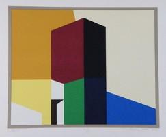 Aknay János - Emlék 43 x 52 cm színes szita 2013-ból