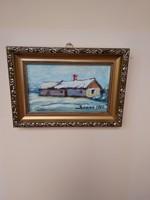Téli táj festmény