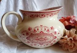 Extrém ritka Jules VIEILLARD antik fajansz mosdókancsó XV.LOUIS dekor 1845-1895