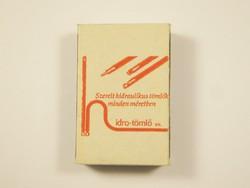 Retro reklám gyufa gyufásdoboz - Hidro Tömlő kft - 1990-es évből