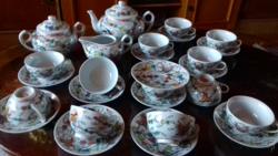 12 személyes ritkaszép kínai porcelán teáskészlet 27 db