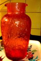 Repesztett- kraklés  üveg  váza