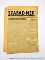 1953 június 10  /  SZABAD NÉP  /  Régi ÚJSÁGOK KÉPREGÉNYEK MAGAZINOK Szs.:  12421