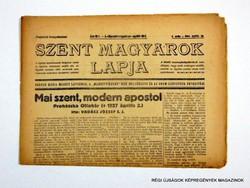 1944 április  /  SZENT MAGYAROK LAPJA  /  SZÜLETÉSNAPRA RÉGI EREDETI ÚJSÁG Szs.:  8011