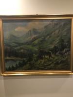 Reményi Géza festmény! Nagyméret!