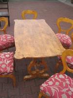 Bider asztal 6 db székkel