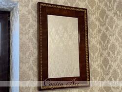 Biedermeier ökörszemes tükör 83x57cm