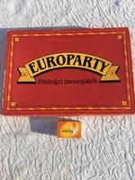 Retro Europarty földrajzi társasjáték - Piért és Békéscsabai Állami Gazdaság