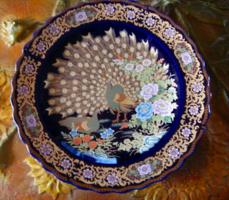 41 cm Keleti / kínai /  porcelán asztalközép ,csodálatosan szép festéssel, mintával