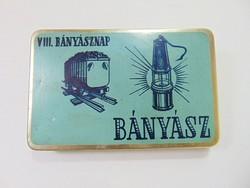 Bányász dohány pléh doboz Budapest Lágymányosi dohánygyár