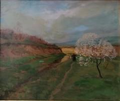 Zórád Géza (1890-1959): Tavasz. Jelzett olajfestmény.
