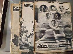 Lobogó újság hetilap 1960-as évfolyam 32 db száma, születésnapra is! Római olimpia hírei