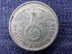 Németország Paul Von Hindenburg (1847-1934) ezüst 5 birodalmi márka 1936 A / id 14458/