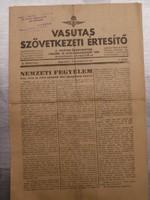 Vasutas Szövetkezeti Értesítő 1943