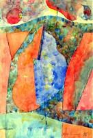 Gerzson Pál - Alakzatok 28 x 19 cm akvarell, papír 1996-ból
