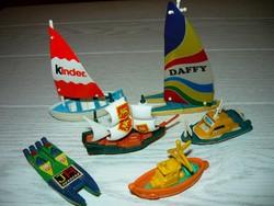 6db hajó,a régi Kinder sorozatból