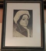 Szignózott portré vagy önarckép