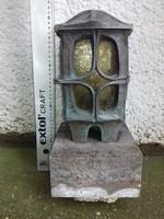 Antik ón szecessziós egyedi sír lámpa ( Grave lamp ) talapzattal