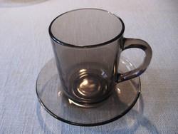 Arcoroc FRANCE füstös barna kávés, teás bögre