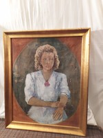 Nagyméretű Halvax Gyula (1906-1984 ) festmény!