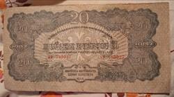 Vöröshadsereg. 20 Pengő 1944.bankjegy