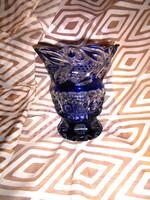 Ólomkristály súlyos-vastag  váza-szép kézműves darab