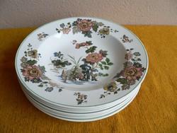7 db angol porcelán tányér