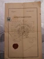 Vasúti Tisztképző Bizonyítvány 1914