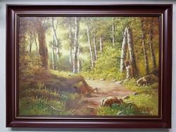 Várhegyi Rozália Erdőbelső festmény (979)