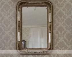 Eredeti vintage stílusú biedermeier tükör 90x66cm